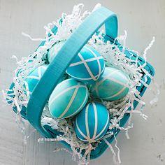 3 Ways to Decorate Easter Eggs: Spring Stripes | Coastalliving.com