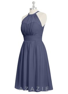 Shop Azazie Bridesmaid Dress - Yamilet in Chiffon. Find the perfect made-to-order bridesmaid dresses for your bridal party in your favorite color, style and fabric at Azazie.
