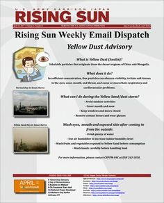 Rising Sun Weekly Email Dispatch for the Week of April 24, 2017 (Volume 4, Number 3)  Weekly Informational Newsletter