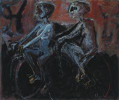 Cyclist - Oil on Canvas - Iberê Camargo.