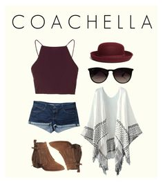 """""""COACHELLA"""" by nafila-winardi on Polyvore featuring Topshop, Office, Ray-Ban and Brooks Brothers"""