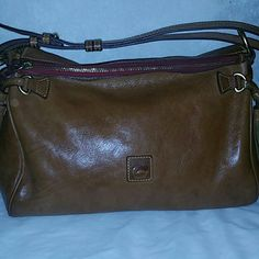 Dooney & Bourke Florentine medium zip hobo Very nice bag in natural. Made of the Florentine leather. Does has signs of being lived,  but no tears, and clean inside Dooney & Bourke Bags Hobos