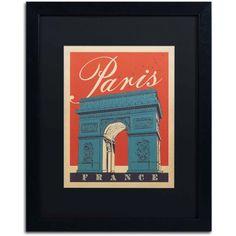 Trademark Fine Art Paris, France Iii Canvas Art by Anderson Design Group, Black Matte, Black Frame, Size: 16 x 20