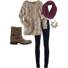 Fall Outfit O my goodness its so adorable!!!! I actually have an impeccable sense of fashion, I just don't have enough money(or any money) to prove it... so i wear shorts and sweat pants and tshirts