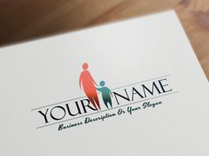 Buy Family logo template online. New online logos templates with Mother and Child Excellent for psychologist, child center, family care, pediatrician, etc.