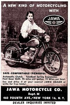 Jawa 350, Enfield Motorcycle, Old Motorcycles, Old Bikes, Classic Bikes, Old Ads, Motocross, Vintage Posters, Motorbikes