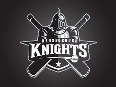 Keysborough Knights Cricket Club Logo - A sport logo for the Keysborough Knights Cricket club in Australia Team Logo Design, Mascot Design, Cricket Logo Design, Identity Design, Brand Identity, Typography Logo, Logo Branding, American Logo, Knight Logo