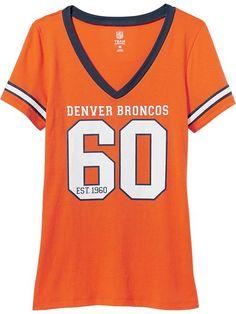 Women's NFL Team V-Neck Tees Denver Broncos