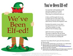 You've Been Elf-ed! My kids and I LOVED Boo-ing our neighbors at Halloween, Now we get to do it for Xmas! Spread some Holiday cheer to your neighborhood! Christmas Neighbor, Office Christmas, Christmas Games, 12 Days Of Christmas, Christmas Activities, A Christmas Story, Christmas Printables, Winter Christmas, Christmas Crafts