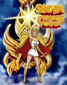 She-Ra! Another childhood favorite. I was She-Ra for Halloween in Kindergarten and enjoyed kicking ass with the boys in the neighborhood.