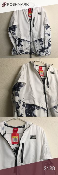 NIKE Sports Jacket Brand new never used, just been sitting in my closet. Very unique and cute pattern!! Give me your best offer or bundle to save ☺️ please be kind with your offers as I've spent full price for this! Nike Jackets & Coats