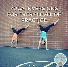 Yoga inversions have a place in your workout, no matter what level you are at! Use this as a guide to help you with your yoga inversions for your level, including beginners! Yoga Inversions, Yoga Moves, Yoga Exercises, Yoga Headstand, Pilates Workout Routine, Workouts, Workout Tips, Yoga Fitness, Fitness Tips