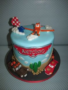 Cars and Planes - Disney Pixar - Chocolate mud cake, covered in chocolate ganache and decorated with fondant,