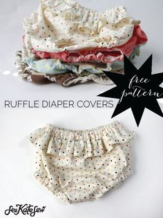 Most up-to-date Screen easy sewing tips Style belly + baby // ruffle diaper covers pattern + tutorial Baby Sewing Projects, Sewing Projects For Beginners, Sewing For Kids, Sewing Hacks, Sewing Tips, Baby Sewing Tutorials, Baby Dress Tutorials, Tutorial Sewing, Baby Clothes Patterns
