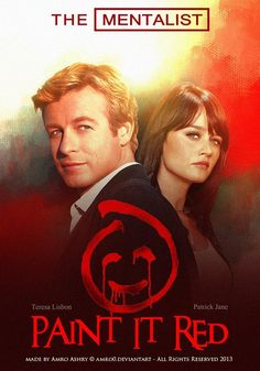 The Mentalist - Paint it red - Poster by artistamroashry on DeviantArt The Mentalist, Tnt Series, Mejores Series Tv, Robin Tunney, Patrick Jane, Cop Show, Gothic Horror, Mystery Thriller, Book Aesthetic