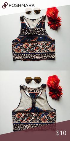 Bohemian Printed Crop Top [ comment below with questions • offers accepted ] Truly Madly Deeply Tops Crop Tops