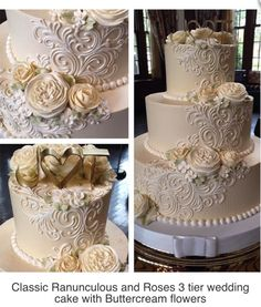 Wedding Cakes Buttercream Wedding Cake - Our Classic Wedding Cakes have become a popular option for our Brides 3 Tier Wedding Cakes, Buttercream Wedding Cake, White Wedding Cakes, Elegant Wedding Cakes, Beautiful Wedding Cakes, Wedding Cake Designs, Wedding Cake Toppers, Beautiful Cakes, Ribbon Wedding