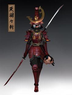 Anima submission on Feudal Japan: The Shogunate - Character Design Ronin Samurai, Female Samurai, Female Knight, Female Character Design, Character Design Inspiration, Character Art, 3d Fantasy, Fantasy Armor, Samurai Artwork