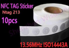 [Visit to Buy] 10pcs Ntag 213 NFC Tags 13.56MHz ISO14443A  25mm Rewritable Ntag213 NFC Tag Sticker  All NFC Phone Available Adhesive Labels #Advertisement