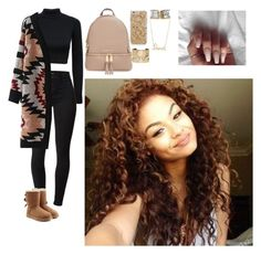 """""""Untitled #148"""" by bbysixteen on Polyvore featuring J Brand, UGG Australia, MICHAEL Michael Kors, Sydney Evan, Lanvin, women's clothing, women, female, woman and misses"""