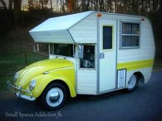 Not sure I care for the pointy parts on the front, but a Bug camper? VERY cool!