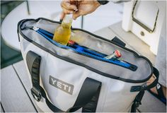 Yeti have created the Yeti Hopper, an ideal solution for short trips, instead of running around with a giant cooler in the fierce heat, you can just throw this shoulder bag on your back, or sling it into a canoe. The soft-sided cooler has a 5.2 gallon capacity and is sealed with a waterproof drysuit zipper. The inside insulation cell is thick enough to keep the ice solid for several days.