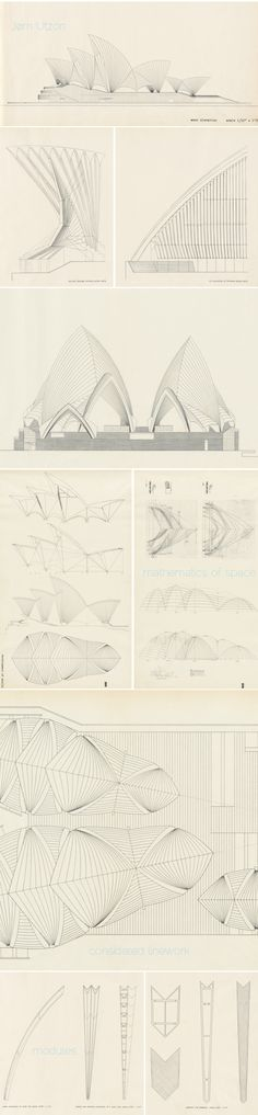 Sydney Opera House, images from the 1962 report from Architect Jørn Utzon