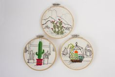 Desert Cactus Cross Stitch by ElOhDesigns on Etsy