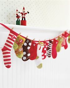 Baby Sock Advent Calendar | Step-by-Step | DIY Craft How To's and Instructions| Martha Stewart