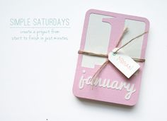 Simple Saturdays :: Set of Month Cards