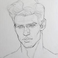 Sketches of faces men: 461 best figure drawing / head & shoulders image Pencil Art Drawings, Art Drawings Sketches, Guy Drawing, Drawing People, Figure Drawing, Drawing Ideas, Volume Art, Desenho Tattoo, Portrait Sketches