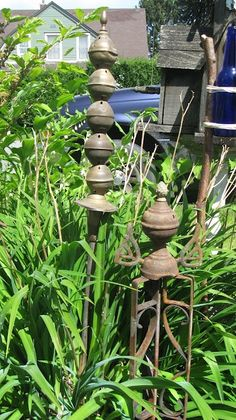 diy outdoor garden projects | DIY Outdoor Projects / 2 garden art architectural pieces - one from ...