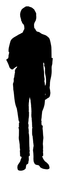 File:Silhouette of man standing and facing forward.svg