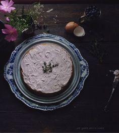 blueberry basil cake with blueberry thyme mascarpone German buttercream | une gamine dans la cuisine