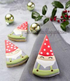 Sleeping Santa Cookies~ (gnome style)