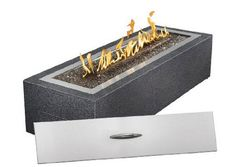 Patioflame Linear Outdoor Fire Pit Liquid Propane with Natural Gas Conversion Kit - Glass Fire Pit, Gas Fire Pit Table, Natural Gas Fire Pit, Cool Fire Pits, Patio Heater, Outdoor Heaters, Brick Patios, Wooden Decks, Gas Fires