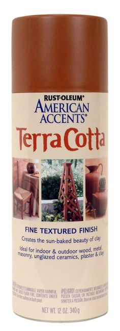 Rust-Oleum Terra Cotta 7905830 Sandstone Spray, Clay Pot, 12-Ounce Clay Pot Projects, Clay Pot Crafts, Dyi Crafts, Diy Projects, Clay Flower Pots, Clay Pots, Own Wilson, Spray Paint Colors, Gardens