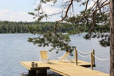 Down by the laituri Lake Cottage, Cottage Homes, Good Neighbor, Living Styles, Outdoor Furniture Sets, Outdoor Decor, Lake Life, Next At Home, Beach House