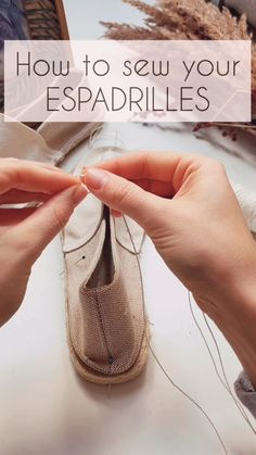 Espadrilles sewing kits by TipuAndTapu Shoe Makeover, Espadrille Shoes, Wedge Sandals, Handmade Clothes, Shoes Handmade, Fashionable Snow Boots, Sewing Lessons, Shoe Pattern, Sewing Leather