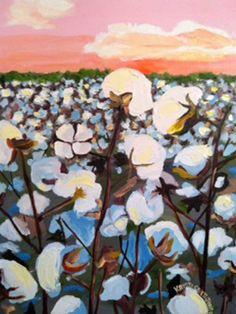 Rising Sun Cotton original oil painting by #dixielandart on Etsy♥•♥•♥