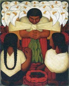 Diego Rivera - Fiesta de la Flor 1925…