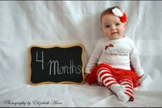 Ava's four months old picture. She looks like a little lady! I love that baby! <3 Lindsey Curtis