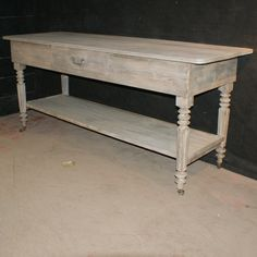 Bleached Oak Drapers Table-19th C French bleached oak drapers table. 1880.