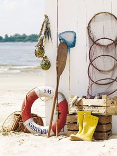 Nautical Decorating with A Life Preserver! - Sally Lee by the Sea Cottages By The Sea, Beach Cottages, Coastal Style, Coastal Living, Seaside Style, Magic Places, Deco Marine, Life Preserver, Cap Ferret