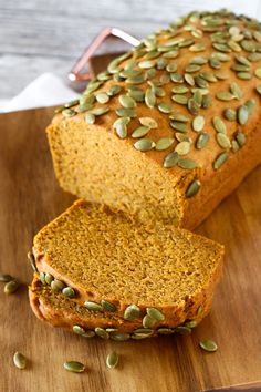 Gluten Free Vegan Pumpkin Spice Bread. Slices of this beautiful fall quick…