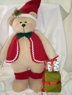 EL TALLER DE ROSA: MUÑECOS 2011 Fabric Decor, Fabric Crafts, Christmas Fabric, Reno, Plush, Teddy Bear, Christmas Ideas, Decorating, Bears