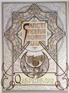 large size paintings: Alfons MUCHA (1860-1939) Le Pater