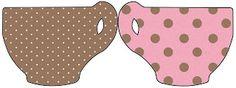 Marrom e Rosa com Bolinhas Poá – Kit Completo com molduras para convites, rótulos para guloseimas, lembrancinhas e imagens! |Fazendo a Nossa Festa