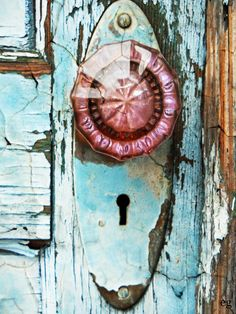 THE LAST DOOR... DOWN THE HALL: Digital Photograph - The Rose Colored Handle