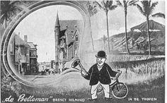 BELLEMAN: Gedurende ongeveer veertig jaar stond Jan Nooijen bekend als Jan de Belleman. In 1915 werd hij door het gemeentebestuur van Helmond aangesteld als stadsomroeper. Tot in de jaren vijftig liep hij gewapend met bel, damesfiets en een krachtige stem door de stad om allerlei nieuws aan te kondigen.